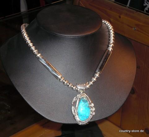 Halskette mit echtem Türkis