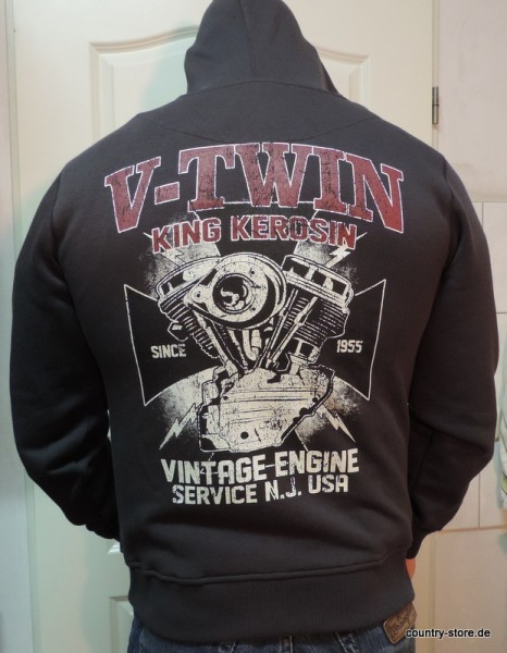 Sweatshirt-Jacke-V-Twin