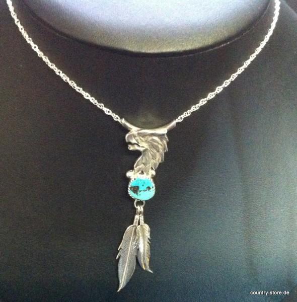 Halskette Navajo Adler