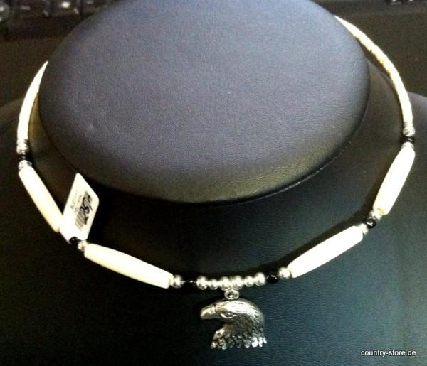 Halskette Knochen