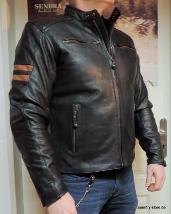 Lederjacke-Eagle