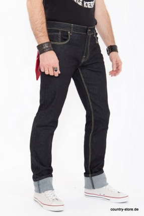 KING KEROSIN Regular Fit Jeans in Rinse Wash mit Kontraststepps Robin »Robin«