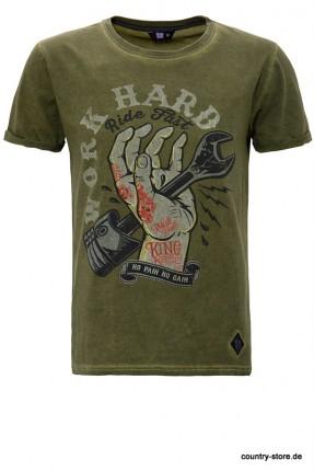 T-Shirt King Kerosin-Work Hard