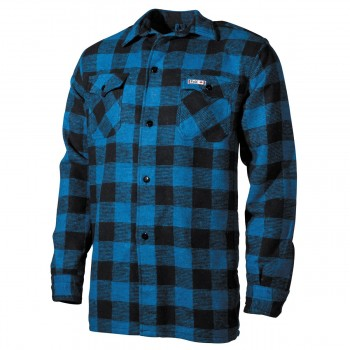 Holzfällerhemd, blau-schwarz, kariert
